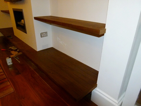 Millbank-SW1 Walnut wall shelving