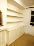 Tower Hamlets  bespoke chunky floating shelves