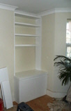 white bookcase