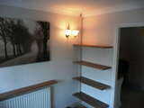 oak radiator shelves