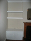 chunky shelves    with cabinets